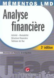Vente  Analyse financiere (3e édition)  - Grandguillot Beatric