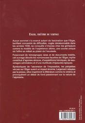 Eiger ; theatre du vertige - 4ème de couverture - Format classique