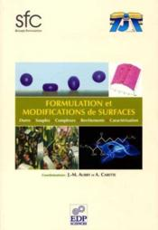 Formulation et modifications de surfaces - Couverture - Format classique