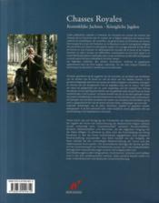 Chasses royales ; koninklijke jachten - königliche jagden - 4ème de couverture - Format classique