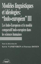 Modeles linguistiques et ideologies indo-europeennes iii - Couverture - Format classique