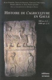 Histoire de l'agriculture gauloise, gallo-romaine et médiévale - Intérieur - Format classique