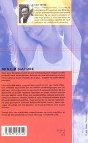 Mincir Nature ; Edition 2002 - 4ème de couverture - Format classique