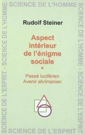 Aspect Interieur De L'Enigme Sociale - Couverture - Format classique