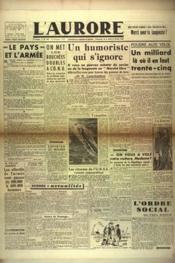 Aurore (L') N°461 du 10/02/1946 - Couverture - Format classique