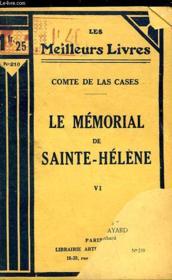 LE MOMORIAL DE SAINT HELENE SUIVI DU TESTAMEN DE NAPOLEON 1er - TOME 6 - Couverture - Format classique