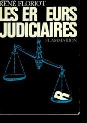 Les Erreurs Judiciaires. - Couverture - Format classique