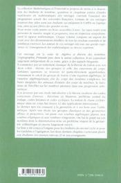 Algebre Et Theorie Des Nombres Theorie De Galois & Codes Geometrie & Arithmetique Niveau M1 Et M2 - 4ème de couverture - Format classique