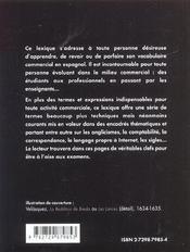 Lexique Espagnol Commercial - 4ème de couverture - Format classique