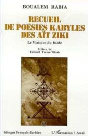 Recueil De Poesies Kabyles Des Ait Ziki - Couverture - Format classique