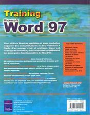 Training Campuspress Word 97 - 4ème de couverture - Format classique