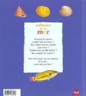 Les animaux de la mer - 4ème de couverture - Format classique