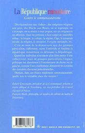La Republique Minoritaire - Contre Le Communautarisme - 4ème de couverture - Format classique