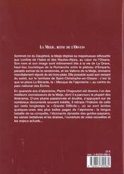 La Meije ; reine de l'Oisans - 4ème de couverture - Format classique