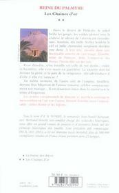 Reine De Palmyre T2 Chaines Or - 4ème de couverture - Format classique