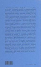 Une enquête aux pays du Levant - 4ème de couverture - Format classique