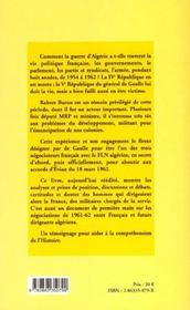 Carnets Politiques De La Guerre D'Algerie - 4ème de couverture - Format classique