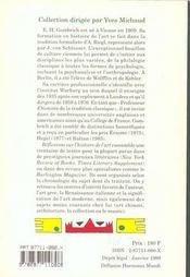 Reflexions Sur L'Histoire De L'Art - 4ème de couverture - Format classique