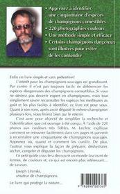 Champignons Comestibles Faciles A Identifier - 4ème de couverture - Format classique