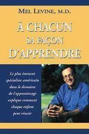 A Chacun Sa Facon D'Apprendre - Couverture - Format classique