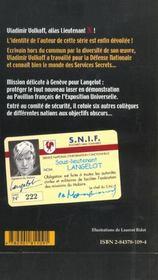 Langelot Contre Six - 4ème de couverture - Format classique