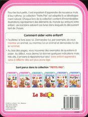 Petits Pas ; Les Animaux 12-18 Mois - 4ème de couverture - Format classique