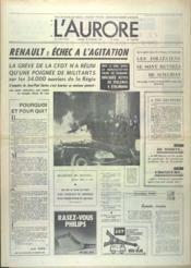Aurore (L') N°8552 du 29/02/1972 - Couverture - Format classique