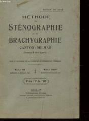 Methode De Stenographie Et De Brachygraphie - Couverture - Format classique