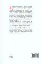 L'Homme Naturel : La Fin Promise Des Sciences Humaines - 4ème de couverture - Format classique