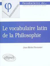Latin De La Philosophie - Intérieur - Format classique