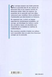 Convexite Dans Les Espaces Fonctionnels Theorie Et Illustration Par Les Exemples - 4ème de couverture - Format classique