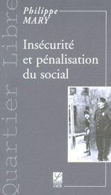 Insecurite et penalisation du social - Intérieur - Format classique