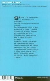 Paris vraiment gratis - 4ème de couverture - Format classique