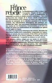 La France Rebelle ; Tous Les Foyers Mouvements Et Acteurs De La Contestation - 4ème de couverture - Format classique