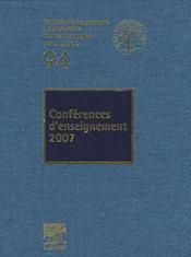 Conferences D'Enseignement 2007 - Intérieur - Format classique