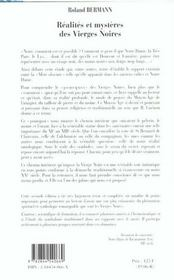 Realites Et Mysteres Des Vierges Noires - 4ème de couverture - Format classique