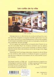 Cafes De La Ville - 4ème de couverture - Format classique