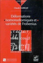 Déformations isomonodromiques et variétés de Frobienus - Intérieur - Format classique