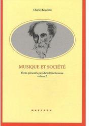 Musique et société t.2 - Couverture - Format classique