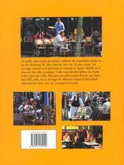Cafes D'Europe - 4ème de couverture - Format classique