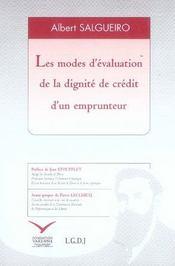 Les modes d'évaluation de la dignité de crédit d'un emprunteur - Intérieur - Format classique