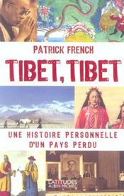 Vente livre :  Tibet, tibet  - French-P - French Patrick