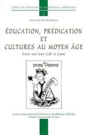Éducation, prédication et culture au Moyen-âge - Couverture - Format classique
