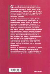 Exercices Corriges Sur La Convexite - 4ème de couverture - Format classique