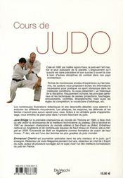Cours De Judo - 4ème de couverture - Format classique