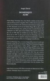 Dominique aury ; la vie secrète de l'auteur d'histoire d'O - 4ème de couverture - Format classique