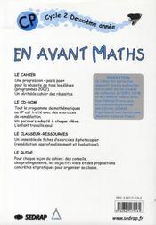 CP ; guide de l'enseignant - 4ème de couverture - Format classique