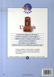 L'anglais - 4ème de couverture - Format classique