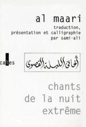 Chants De La Nuit Extreme - Couverture - Format classique