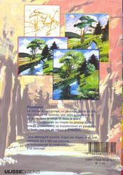 Peinture A L'Huile Paysage - 4ème de couverture - Format classique